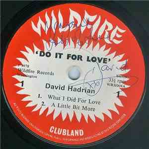 David Hadrian - Do It For Love