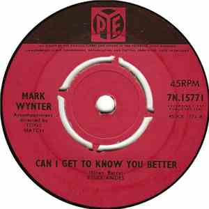 Mark Wynter - Can I Get To Know You Better