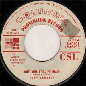 Tony Bennett - What Will I Tell My Heart? / Punch And Judy Love